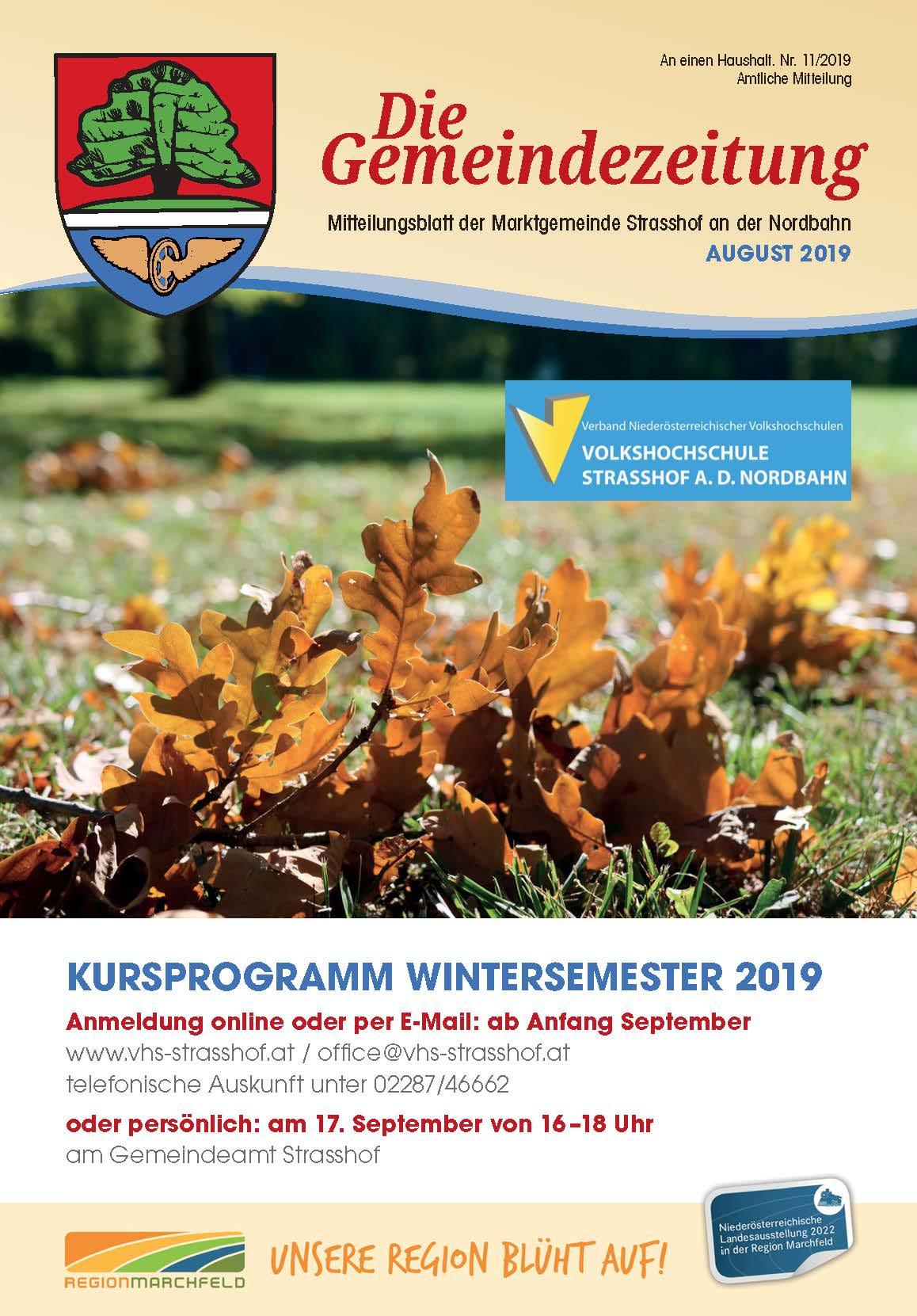 Das neue Kursprogramm WS 2019 ist da!